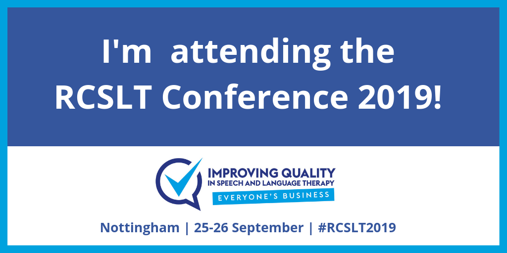 Come see us at the RCSLT!