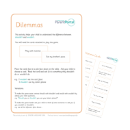 NEW! Dilemmas Activity