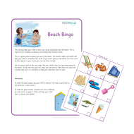 Parents purple up to 5. Beach Bingo.